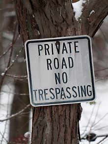 Privatweg Hinweisschild