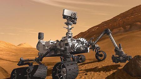 """Em agosto de 2012, Mars rover """"Curiosidade"""" podem ser expostos no planeta vermelho."""