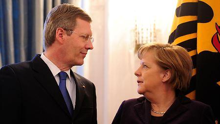 Merkel apoia Wulff.  O incômodo para o seu crédito é altamente inconveniente.