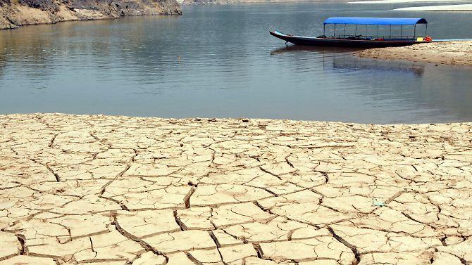 Seca ao longo do rio Mekong na Tailândia (imagem de arquivo).