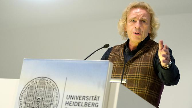Thomas Gottschalk bei seinem Gastvortrag an der Universität Heidelberg.