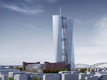 Computergrafik des geplanten Neubaus der Europäischen Zentralbank in Frankfurt am Main. In einem Vollgeld-System wäre die EZB die Monetative, die vierte Gewalt neben Legislative, Exekutive und Judikative.